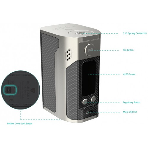 Big Battery WISMEC - Reuleaux RX300-CARBON EDITION
