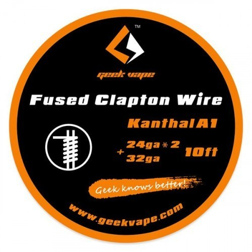 Geekvape SS Fused Clapton Wire - (24GAX2+32GA) 3M